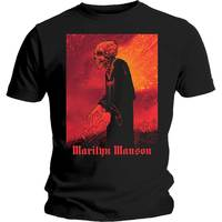Marilyn Manson Mad Monk Men's Black T-Shirt (XX-Large) - Cover