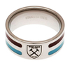 West Ham United - Club Crest Colour Stripe Ring (Large)