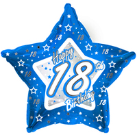 Creative Party - 18 inch Blue Star Balloon - Age 18 - Cover