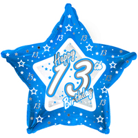 Creative Party - 18 inch Blue Star Balloon - Age 13 - Cover