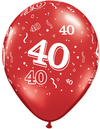 Qualatex - 11 inch Red Latex Balloon - 40 Around (Pack of 25)