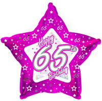 Creative Party - 18 inch Pink Star Balloon - Age 65 - Cover