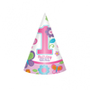 Amscan - Sweet 1st Birthday Girl - Cone Hats (Pack of 8) Cover