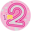 Expression Factory - Giant Badge - I Am 2 - Girl