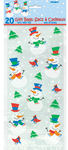 Unique Party - Christmas Cello Gift Bags - Snowman (Pack of 20)