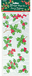 Unique Party - Christmas Cello Gift Bags - Holly Garland (Pack of 20)