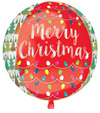 Anagram - Supershape Orbz Balloon - Christmas Trees & Lights