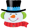Qualatex - 36 inch Supershape Balloon - Smiling Snowman