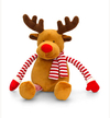 Keel Toys - 22cm Dangly Stripey Christmas - Reindeer