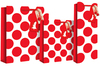 Eurowrap - Christmas Candy Dots Bottle Bags (Pack of 12)