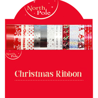 Eurowrap - 4x2m Christmas Ribbons (Pack of 24) - Cover