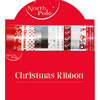 Eurowrap - 4x2m Christmas Ribbons (Pack of 24)