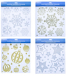 Christmas Workshop Glitter Window Stickers (Pack of 12)