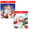 Seasons Greetings Square Advent Calendars - Traditional & Cute Santa (Pack of 12)