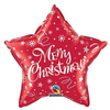 Qualatex - 20 inch Star Foil Balloon - Merry Christmas Festive Red