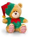 Keel Toys - 20cm Christmas Pipp the Bear Jacket & Hat - Green