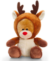 Keel Toys - 20cm Christmas Pipp the Bear With Antlers