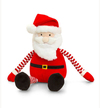 Keel Toys - 15cm Dangly Stripey Christmas - Santa