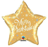 Qualatex - 20 inch Star Foil Balloon - Merry Christmas Festive - Gold