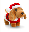 Keel Toys - 26cm Douggie the Sausage Dog With Xmas Outfits - Santa