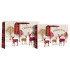 Eurowrap - Christmas Tartan Stag Shopper Bags (Pack of 12)
