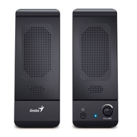 Genius - SP-U120 USB 3W Loudspeaker - Black - Cover