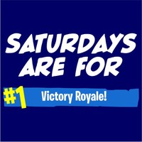 Saturdays Are For Victory Royale Men's Navy T-Shirt (Medium) - Cover