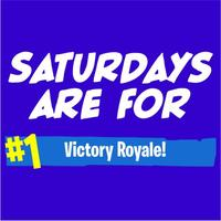 Saturdays Are For Victory Royale Men's Royal Blue T-Shirt (X-Large)