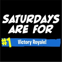 Saturdays Are For Victory Royale Men's Black T-Shirt (XXX-Large) - Cover