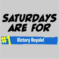 Saturdays Are For Victory Royale Men's Grey T-Shirt (XXXX-Large) - Cover