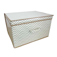 Kids Folding Storage Chest - Chevron - Cover