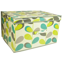 Kids Folding Storage Chest - Leaf Brown - Cover