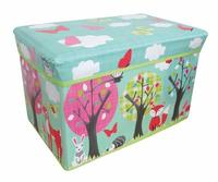 Kids Folding Storage Chest - Woodland - Cover