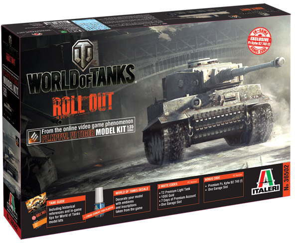Italeri - 1/35 - World of Tanks - PZ KPFW VI TIGER (Plastic Model Kit)