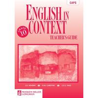 English in Context: English in Context: Grade 10: Teacher's Guide Gr 10: Teacher's Guide NCS2 - J.O. Hendry (Paperback)