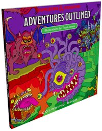 Dungeons & Dragons - Adventure Outlined Colouring Book - Cover