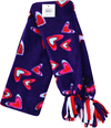Red Hearts Scarf - Purple