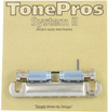 TonePros T1ZS-N Electric Guitar Locking Stop Tailpiece with 82.55mm Stud Spacing (Nickel)