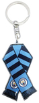 Manchester City - Bar Scarf Metal Keyring