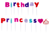 Amscan - Party Candles - Happy Birthday Princess Picks (Pack of 18)