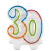 Amscan - Milestone Number Candle - 30 Cover