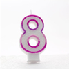Apac - Pink Number Candles - 8 (Pack of 6)