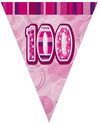 Unique Party - Pink Glitz Pennant Bunting - 100