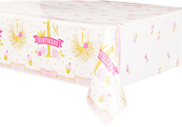 Unique Party - Pink/Gold 1st Birthday Tablecover - Cover