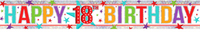 Amscan - Holographic Foil Banner - Multi Colour Happy 18th Birthday - Cover