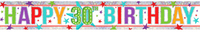 Amscan - Holographic Foil Banner - Multi Colour Happy 30th Birthday - Cover