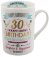 Widdop Signography - Pink & Gold Design Mug - 30th Birthday Cover