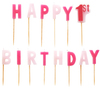 Amscan - Pink Pick Candles - 1st Birthday - Girl (Pack of 14) Cover