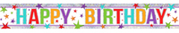 Amscan - Holographic Foil Banner - Multi Colour Happy Birthday - Cover
