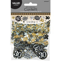 Amscan - 1.2oz Confetti - Gold Sparkling Celebration 30th Birthday - Cover